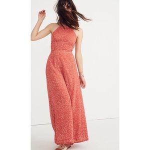 Madewell Halter Tie-Back Maxi Dress Twisted Vines